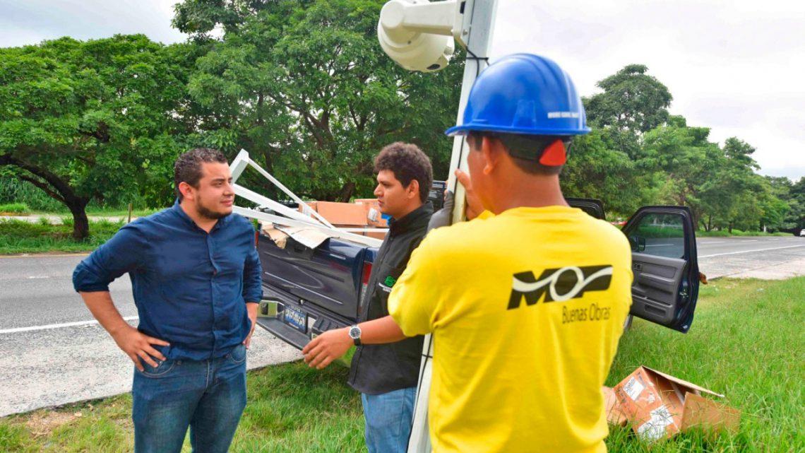 MOP incrementa seguridad vial y ciudadana con proyecto de iluminación y video vigilancia
