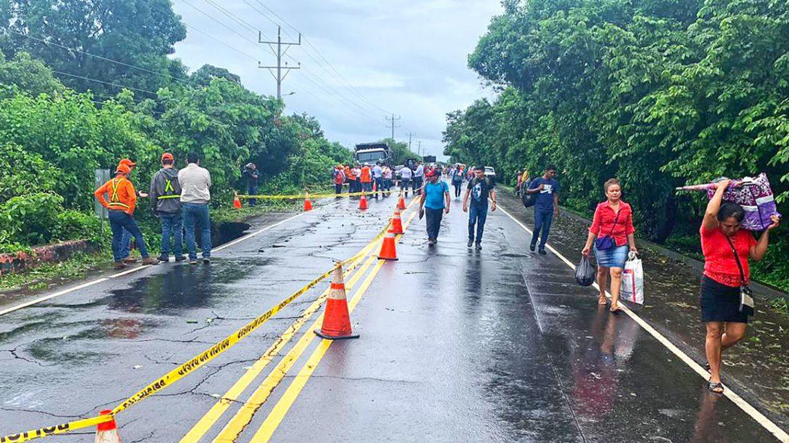 Inician obras de protección en Puente Coyotito, Jiquilisco, Usulután