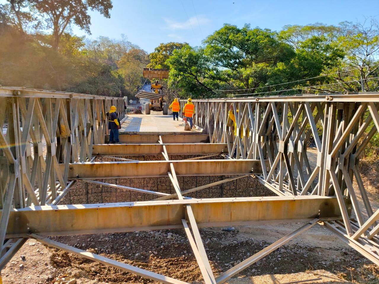 MOP por finalizar montaje de puente sobre Río Guastena Concepción Quezaltepeque, Chalatenango