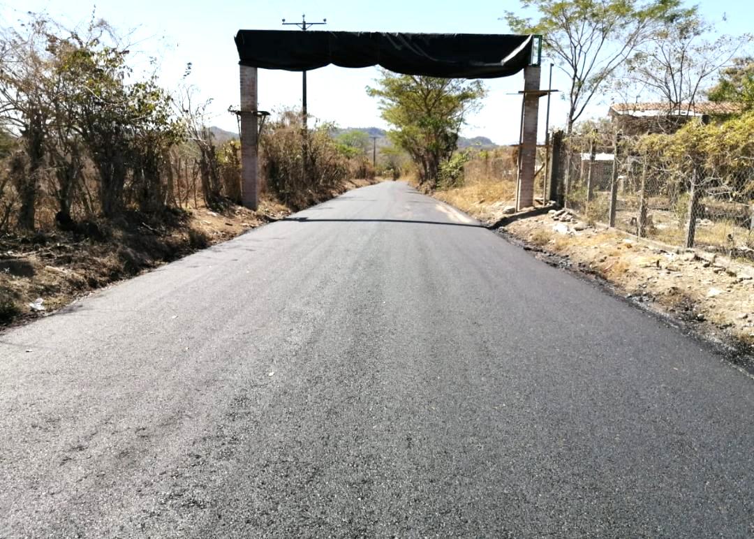 MOP concluye pavimentación de 3 kilómetros de calle en Cantón San José, Chalatenango