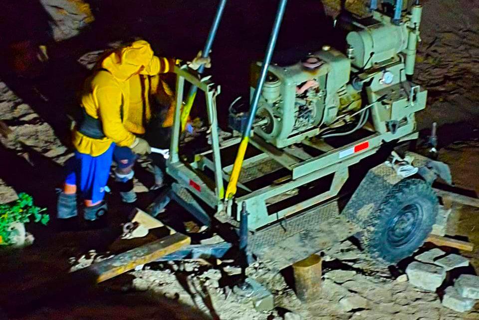 MOP realiza pruebas geotécnicas para construcción obra de paso en Tenancingo, Cuscatlán