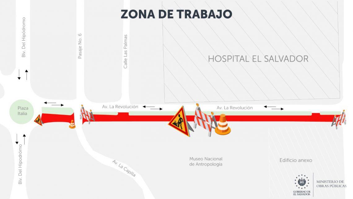 Cierre temporal tramo Avenida La Revolución, por ejecución de obras de drenajes